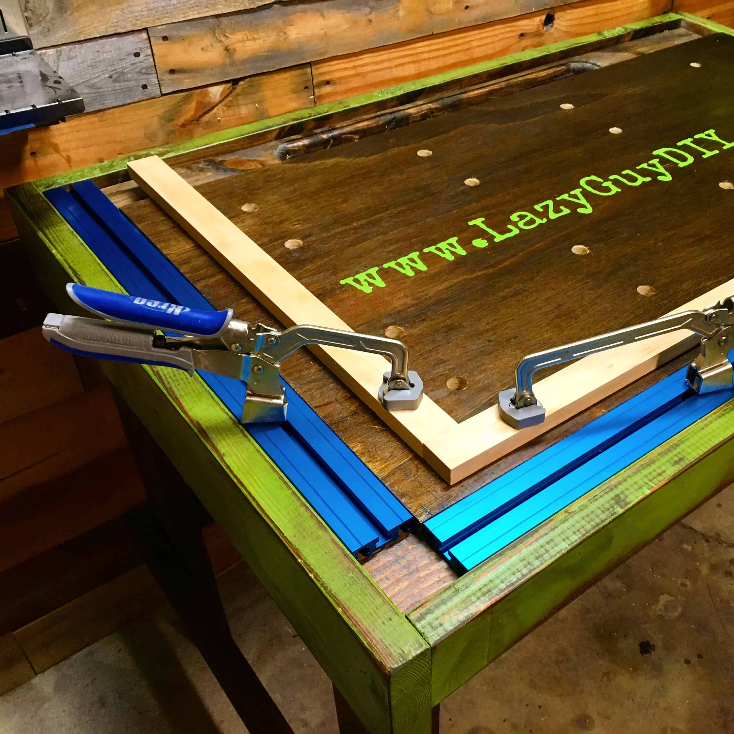 Custom Workbench With Bench Clamps And Bench Dogs Lazy Guy Diy