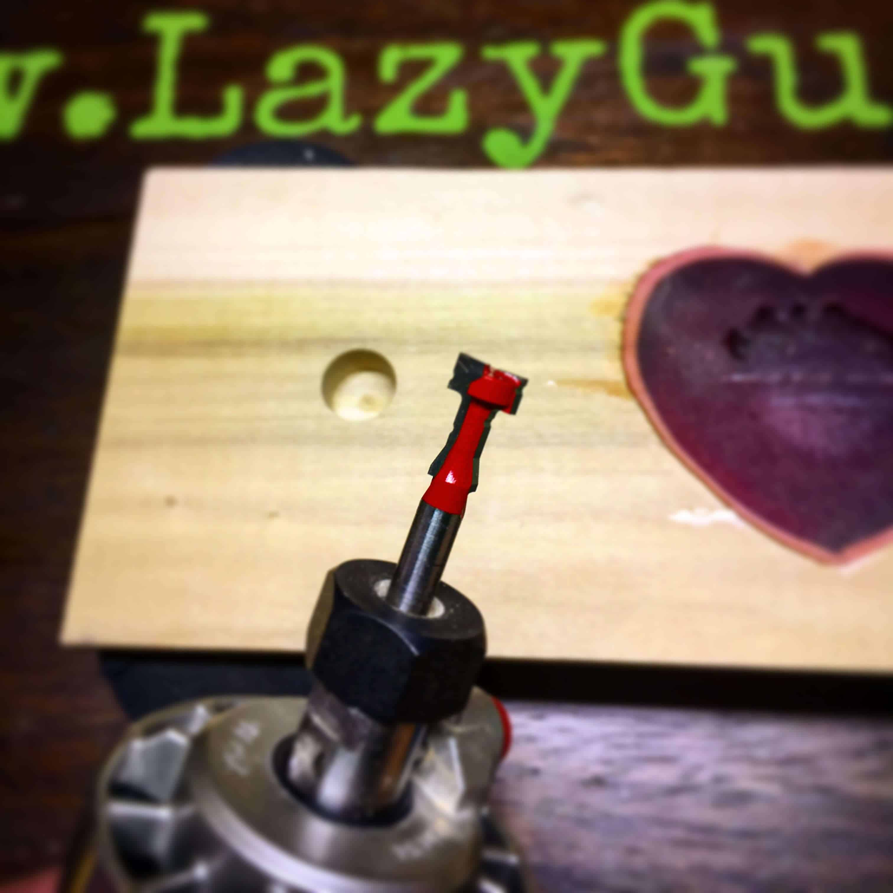 Rustic Magnetic Key Holder With Epoxy Cutout - Lazy Guy DIY