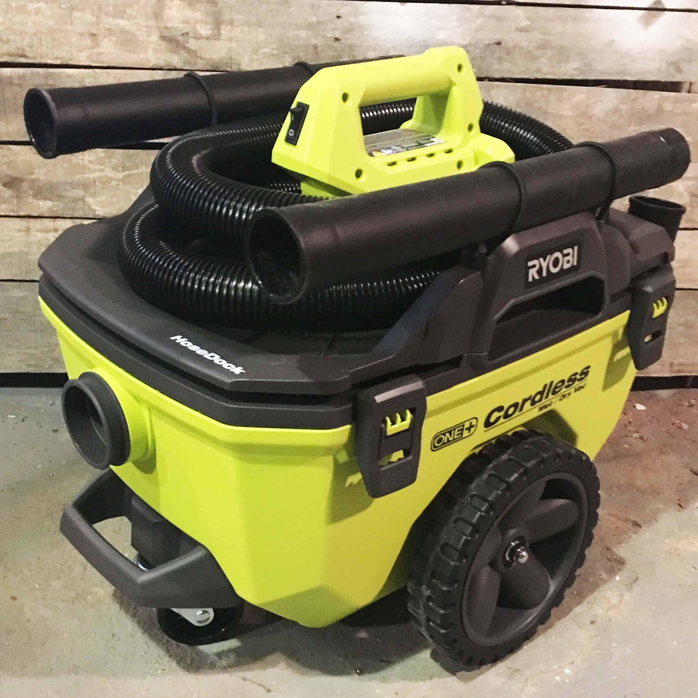 Ryobi One+ 18v Wet/Dry Vac and Stick Vacuum Review - Lazy Guy DIY
