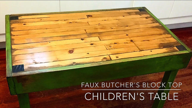 Faux Butcher's Block Children's Table