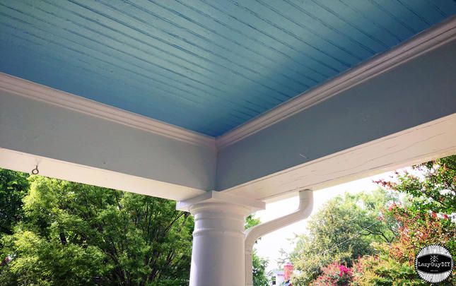 Newly Painted Porch Roof