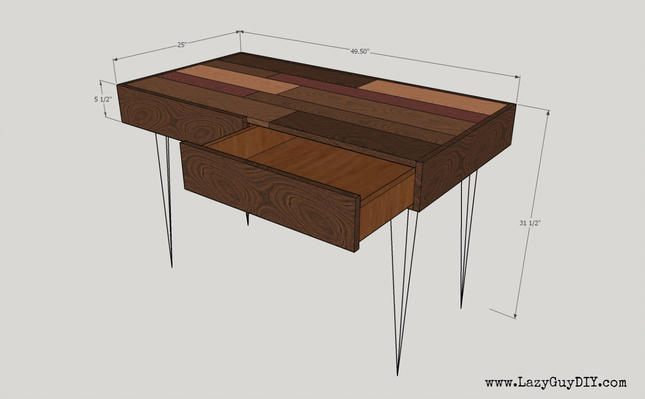 Hunter Patchwork Plank Desk