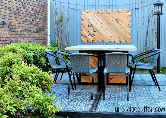 Outdoor Concrete Patio Table