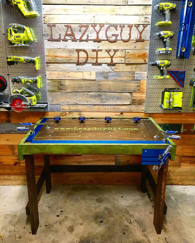 Pleasant Custom Workbench With Bench Clamps And Bench Dogs Lazy Guy Diy Download Free Architecture Designs Embacsunscenecom