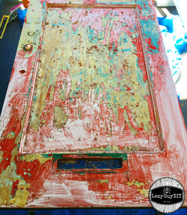 Stripping Paint from a Door