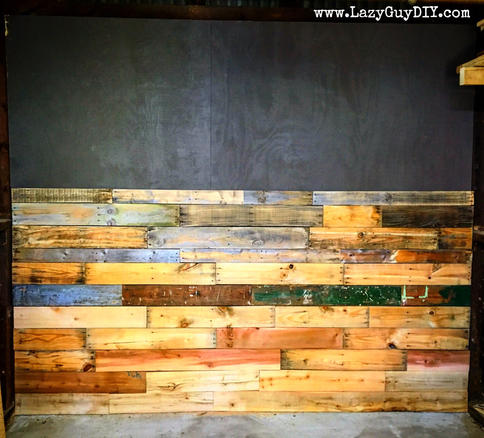 Diy Pallet Wall Installation Lazy Guy Diy
