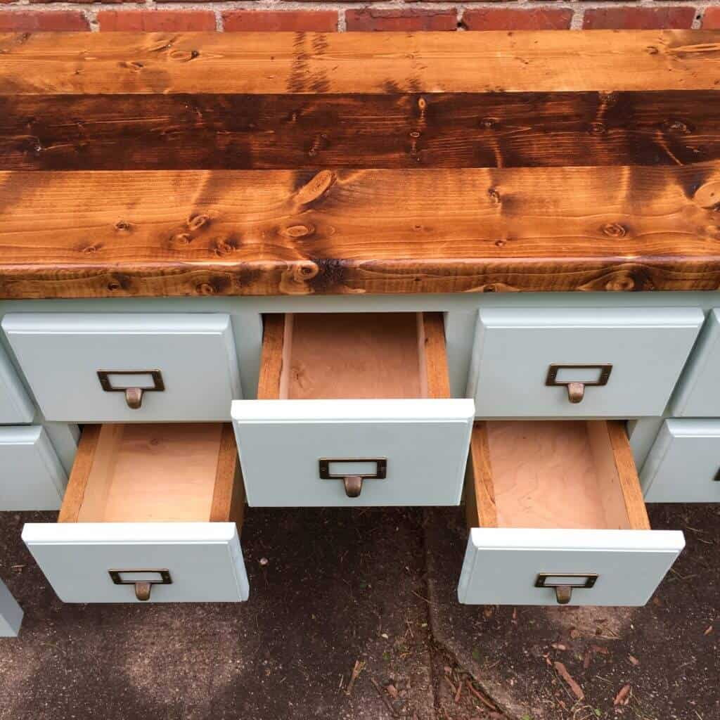 Apothecary Table Drawers