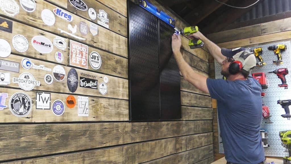 Wall Control Pegboard Install