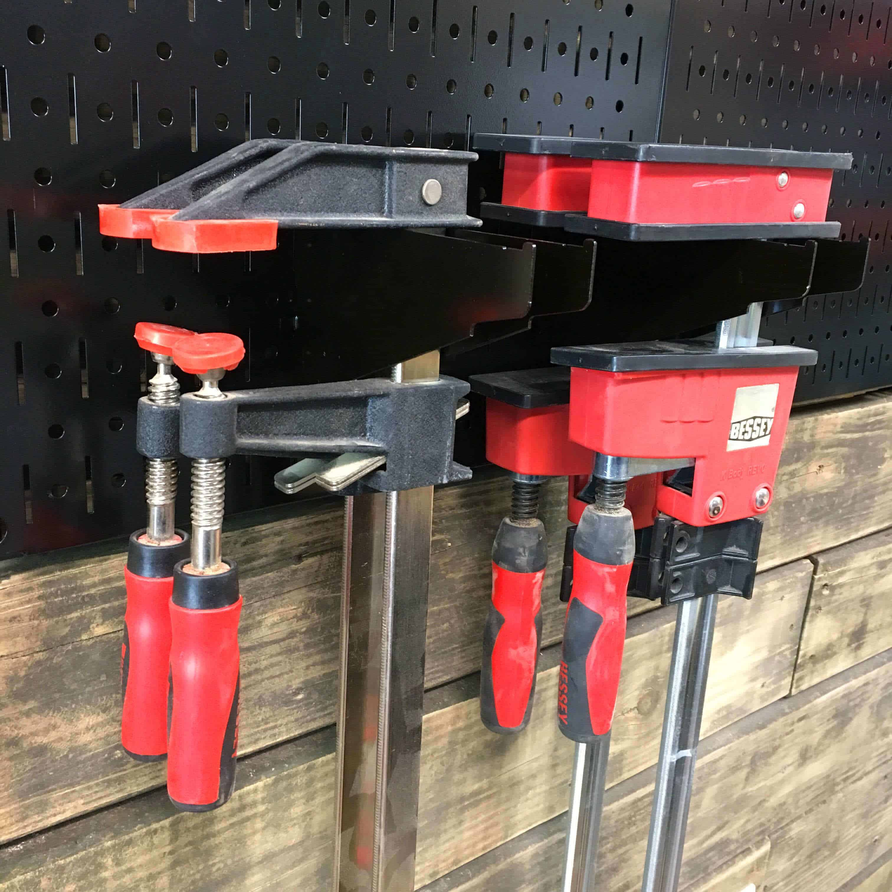 Wall Control Clamp Storage