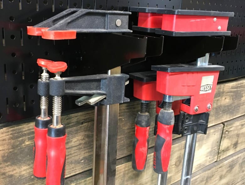 Wall Control Clamp Storage