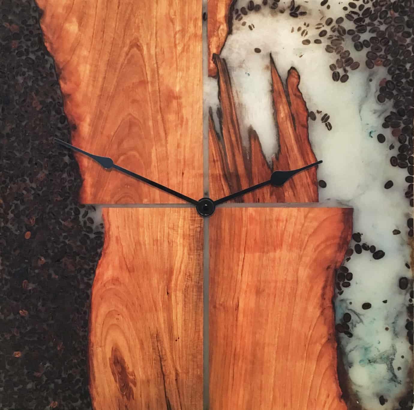 Cherry Java Clock Wood Art Challenge