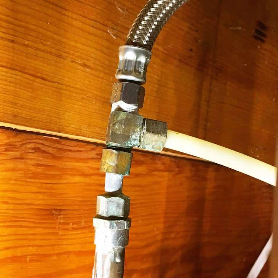 Old plumbing connection