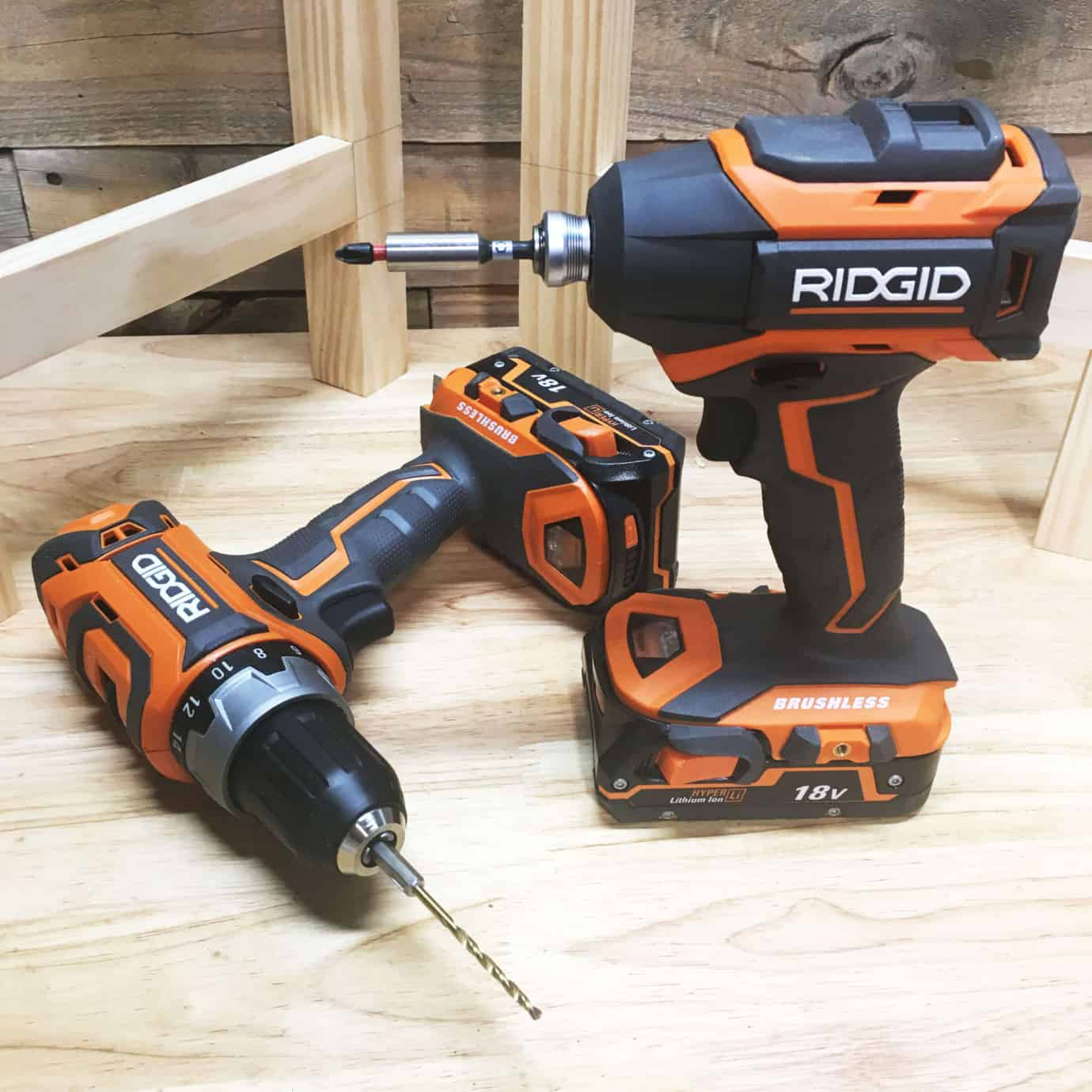 RIDGID 18v Brushless Combo-Kit Cover 1