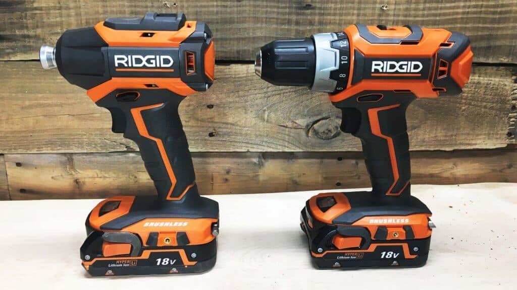 RIDGID 18v Brushless Combo-Kit Set