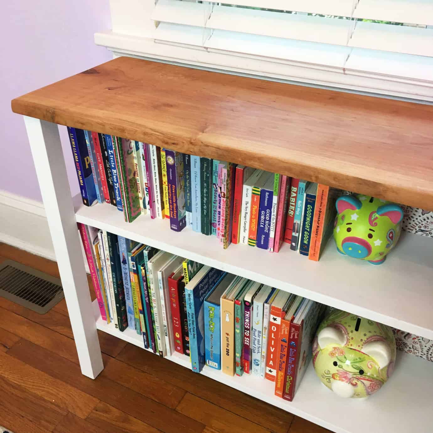 Live Edge Rustic Bookcase