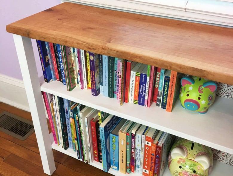 Live Edge Rustic Bookcase
