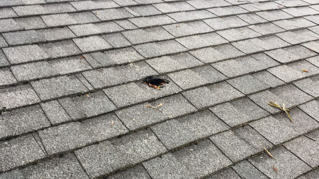 Original Hole In Roof