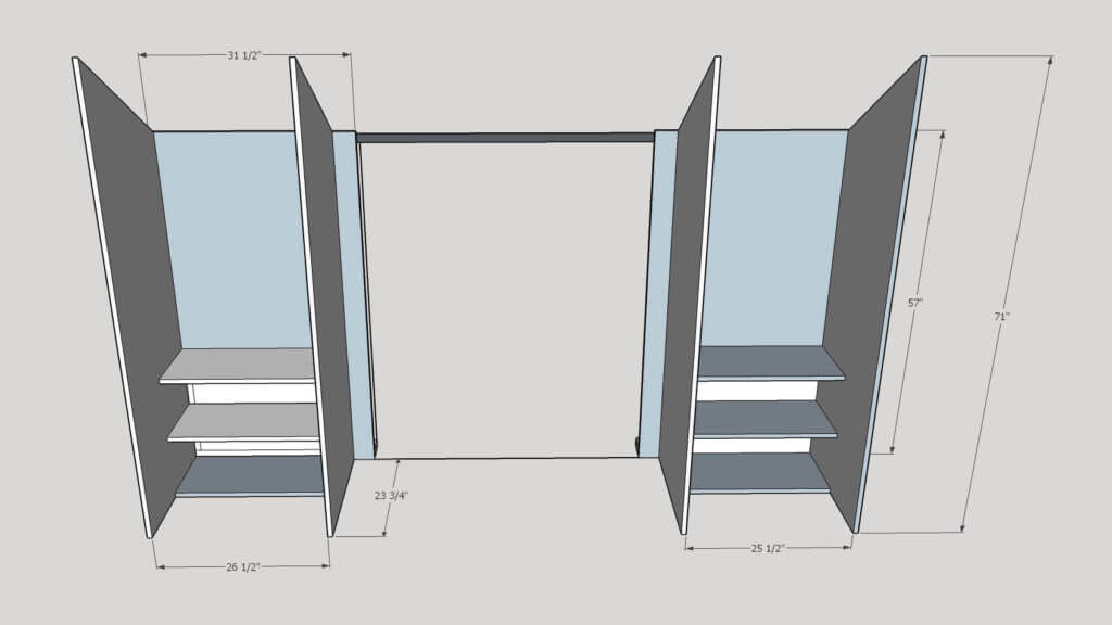 Sketch up Built In Closets