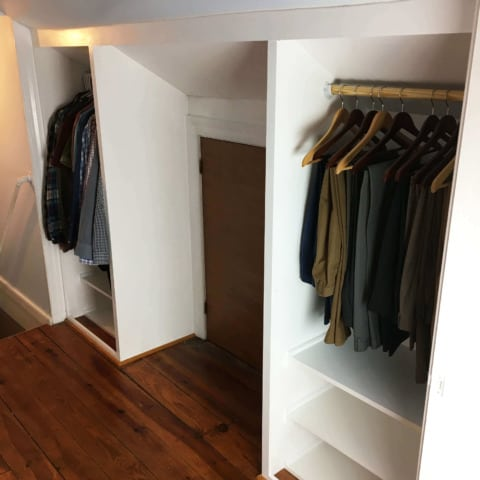 DIY Built In Closet