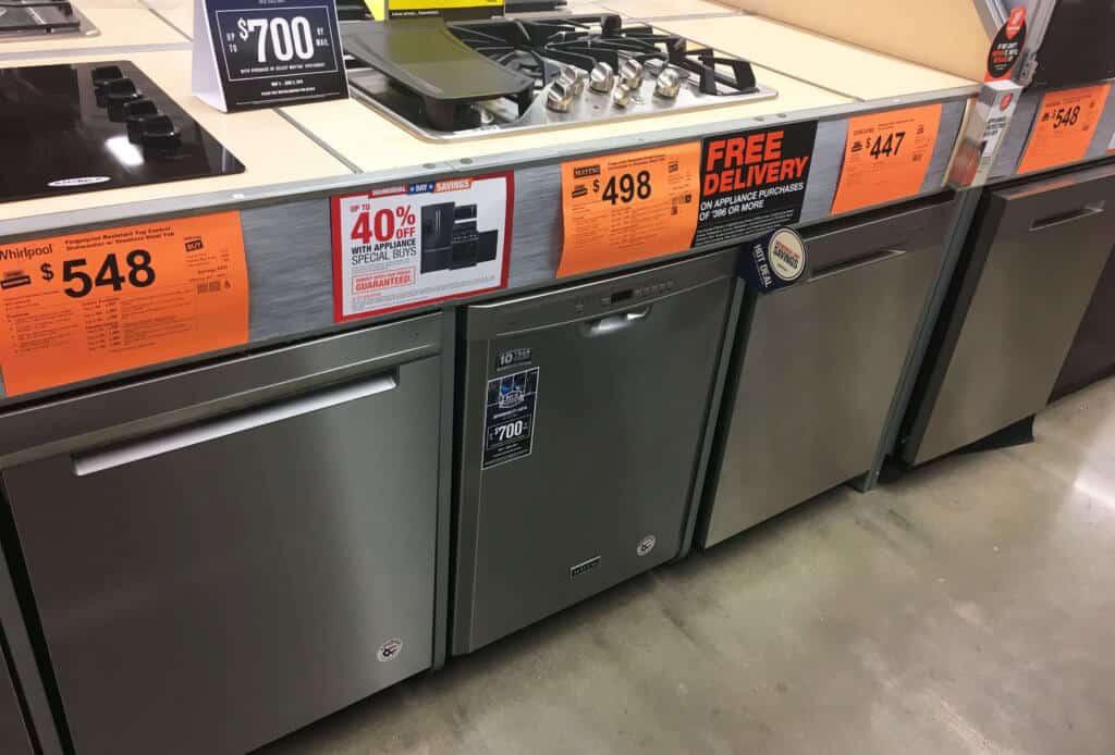 Home Depot Dishwashers