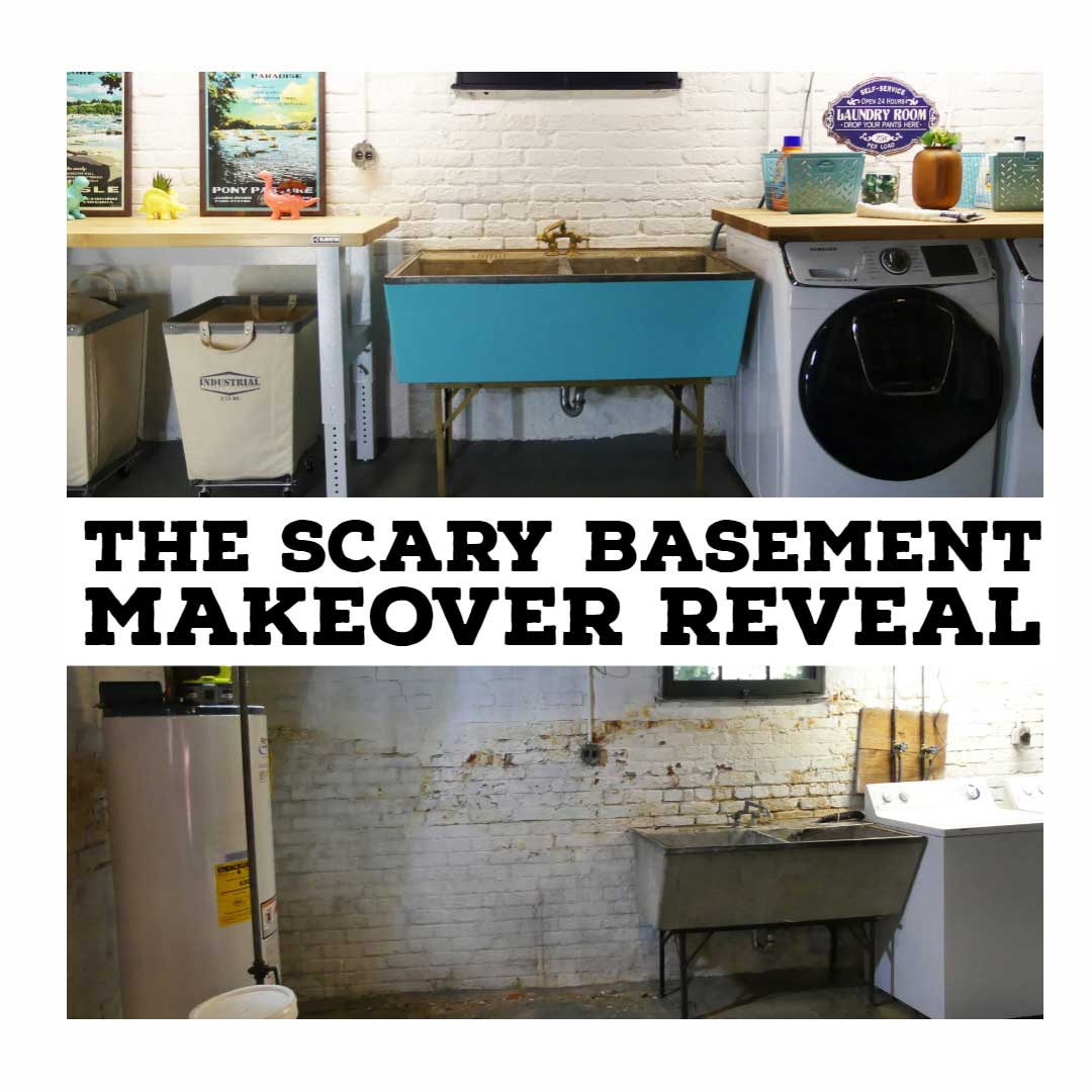 Scary Basement Laundry Room