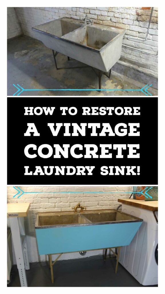 Laundry Sink Makeover