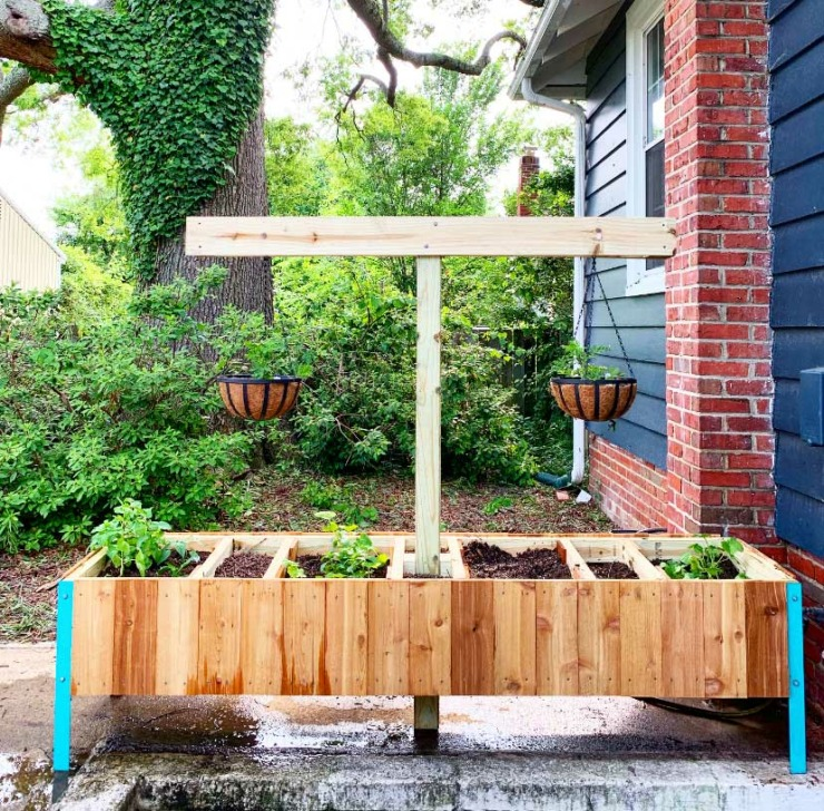 Raised Planter With Compost