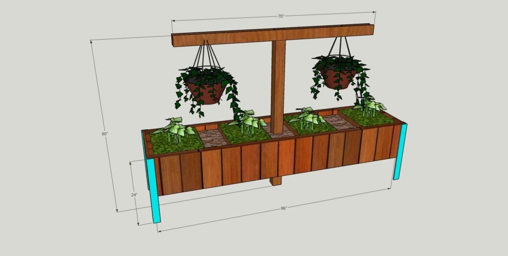 Raised Vegetable Planter Diagram