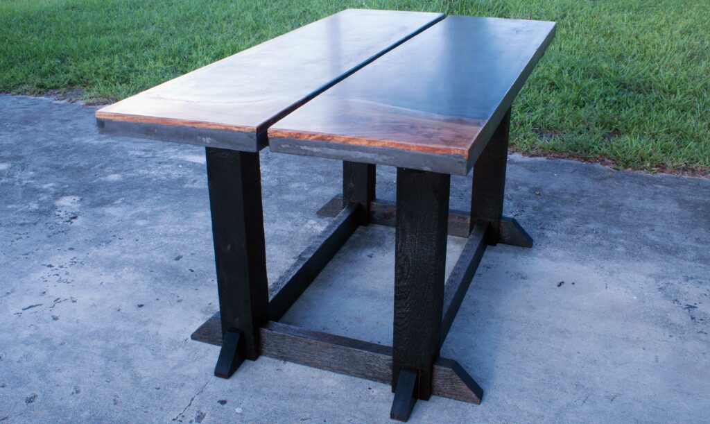 Concrete Live Edge Dining Table