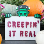 DIY Spooky Halloween Scroll Saw Sign