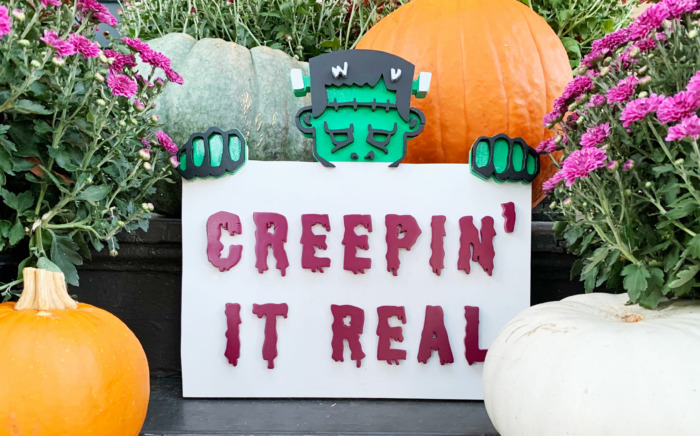 Spooky Halloween Scroll Saw Sign