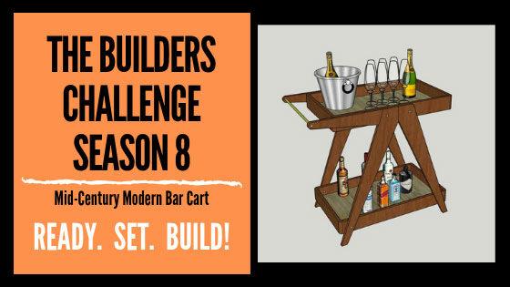 Mid Century Modern Bar Cart
