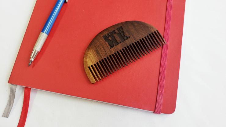 Walnut Beard Comb