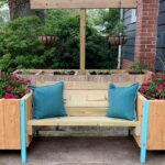 Outdoor Bench With Raised Planters