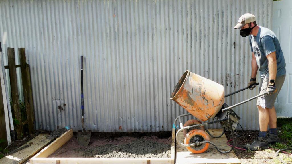Cement Mixer Pour
