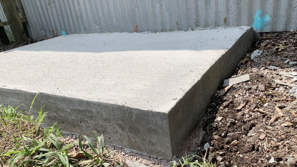 Concrete Slab Final Reveal
