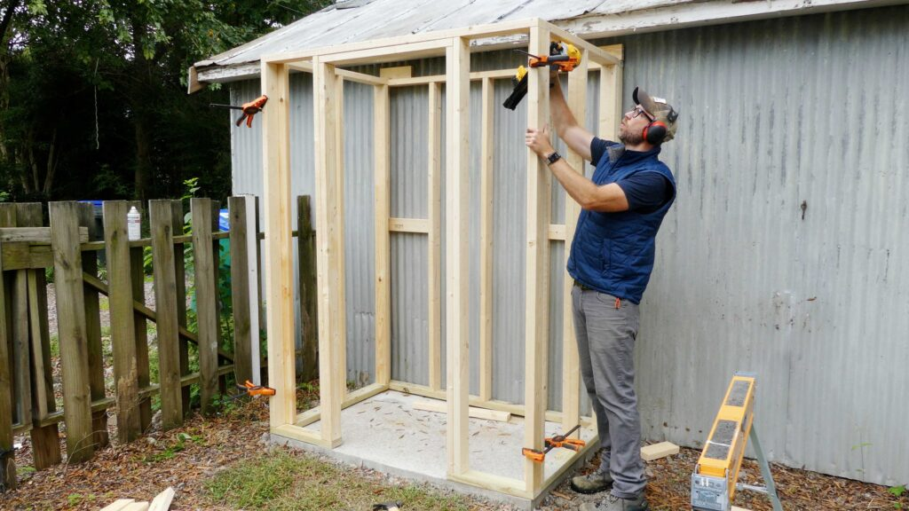 Lean To Frame Assembly