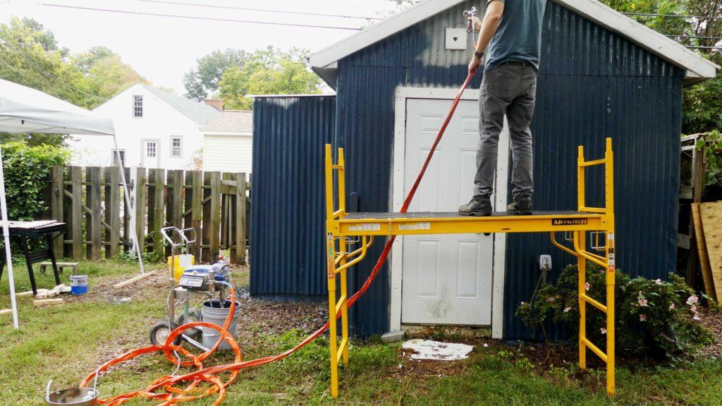 Paint Sprayer Scaffolding