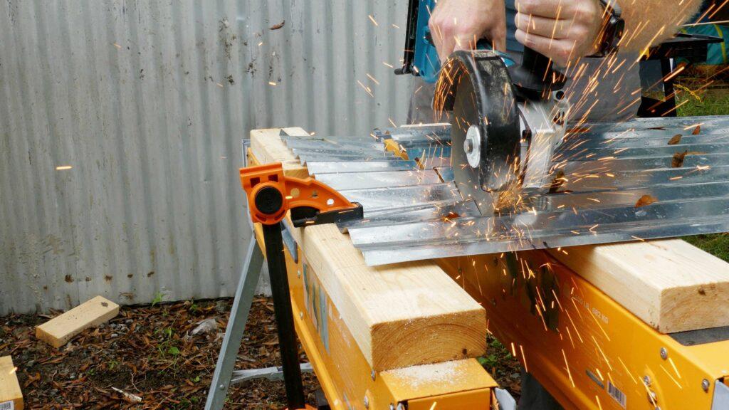 Cutting Sheet Metal Siding