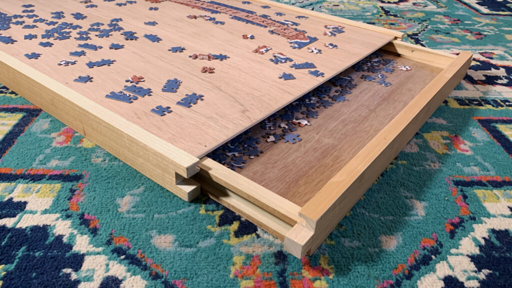 Puzzle Tray With Storage
