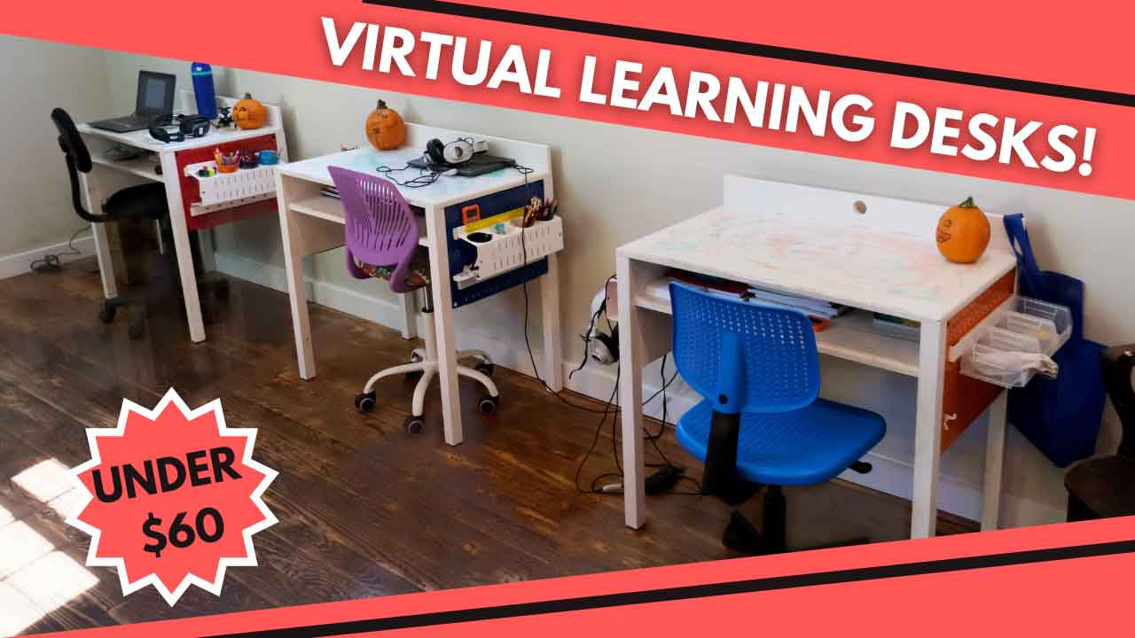 Under $60 Virtual Learning Desk