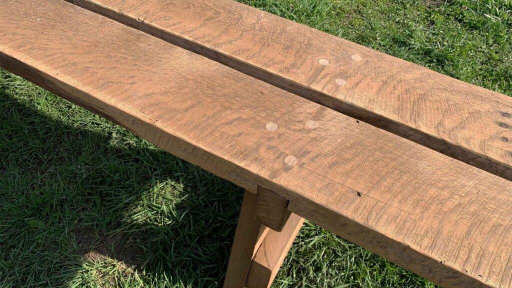 Rustic Bench Dowel View